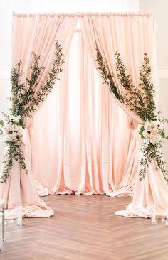 Pink Wedding Arch - My Website 2020 Wedding Backdrop Design, Wedding Hall Decorations, Quinceanera Decorations, Engagement Decorations, Backdrop Decorations, Backdrops, Pink Backdrop, Decoration Evenementielle, Event Decor