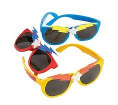 12 Superhero Sunglasses Boy's Birthday Party Costume Favors TOYS SUPER HERO