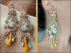Handmade Wire Jewelry, Diy Jewelry, Beaded Jewelry, Jewelery, Soutache Necklace, Tassel Earrings, Ring Earrings, Shibori, Bohemian Jewelry