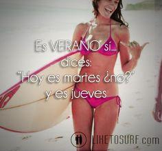 Es verano sí...#surf #verano #playa #cosasdeverano
