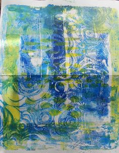 All that Glitters Scrapbooking: Gelli Plate on a Snow Day