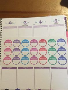 Work Circle Planner Stickers perfect for by AlternateForces   planner stickers ; erin condren