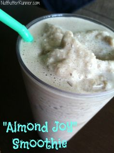 "Healthy and protein packed ""Almond Joy"" Smoothie @Designer Whey @Silk"