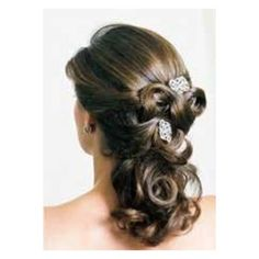 Beauty and the Beast wedding hair, maybe with flowers instead.
