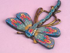 """Polymer clay dragonfly with Bonnie McGough - watch it now on www.bead.tv """"Love this!"""""""