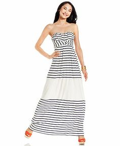 Jessica Simpson Dress Strapless Striped Maxi, super cute but kind of spendy