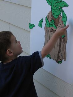 Pin the ears on the Yoda- Star Wars party ideas