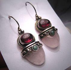 Vintage Victorian Revival Garnet Earrings by AawsombleiJewelry, $289.00