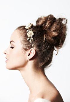 messy bun + floral headband?