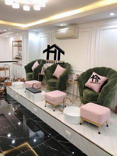 Nail+Salon Home Nail Salon, Nail Salon Design, Nail Salon Decor, Spa Interior, Beauty Salon Interior, Beauty Salon Design, Salon Interior Design, Beauty Room Salon, Beauty Room Decor