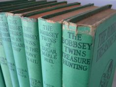 Vintage The Bobbsey Twins Book Collection. Antique turquoise books - I think I read every book in the collection.  Loved them!