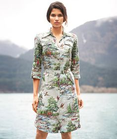 Well this dress is really cool. $189, L.L. Bean