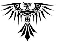Tribal Phoenix Tattoo