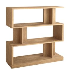Give your home decor a dramatic upgrade with this 3-tier Morrissey bookshelf, featuring an asymmetrical stacked shape. Crafted with wood and veneers, this espresso or driftwood shelf is an ideal way to store your favorite books, movies and decorations.