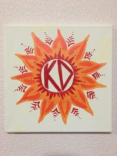 Items similar to Sorority Custom Canvas on Etsy Sorority Letters, Sorority Crafts, Kappa Delta Crafts, Alpha Sigma Alpha, Sigma Kappa, Theta, Kappa Delta Canvas, Phi Mu Canvas, Sorority Canvas Paintings