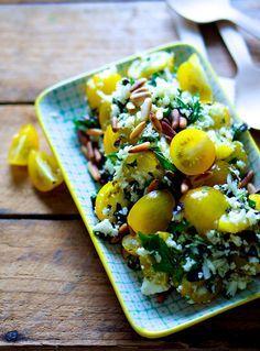 10 salater - på foto: sommersalat med blomkål