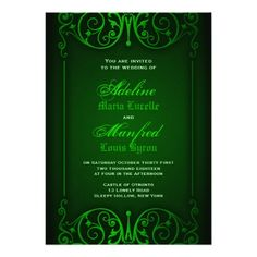 ShoppingGothic Victorian Ghoulish Green Wedding Cardonline after you search a lot for where to buy