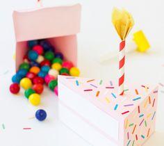 Birthday cake favor box by Studio DIY. Make It Now in Cricut Design Space.