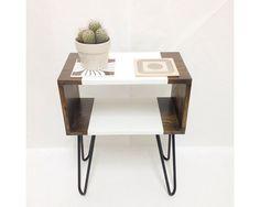 Mid Century Modern Tables Midcentury Bedside by VintageHouseCoruna