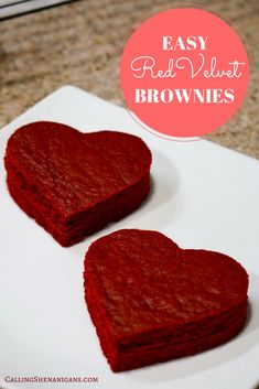 The easiest red velvet brownie recipe ever!
