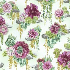 RJR Fabrics - Oasis 2884-002 TRANQUIL TRAIL-THISTLE