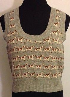 406cfa205e75 Womens-American-Eagle-Gray-100-Wool-Dog-Print-