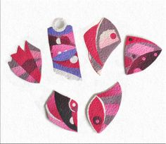 Brooches by Gabriela Simigdala Made with kato polyclay