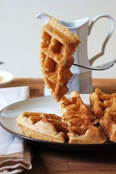The Vegan Chickpea: Buttermilk Belgian Waffles. Gluten-free. Vegan.