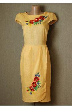 Сукня «Полісся» жовтого кольору