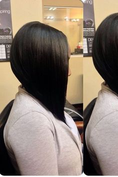 If i ever grow my hair to a bob, this is PRECISELY how it would be done. -words of Miss Stephanie Childress- Weave Hairstyles, Pretty Hairstyles, Mommy Hairstyles, Sleek Hairstyles, Medium Hairstyles, Wedding Hairstyles, Short Hair Cuts, Short Hair Styles, Bob Styles