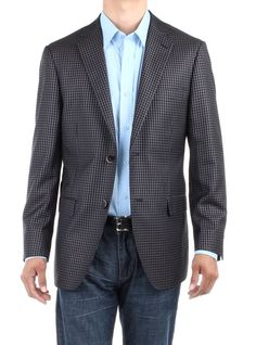 Sport Coats & Blazers! Discount upto 77% Bianco B Men's Check Modern Two Button Blazer http://www.menssuithabit.com/men-suits-clothing.html?cat=10