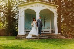 Beautiful shot of newly wed couple at Wasing Park.