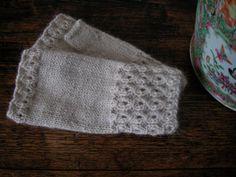Handknitted Alpaca fingerless mittens by LULUkn1tsOne on Etsy, £14.99