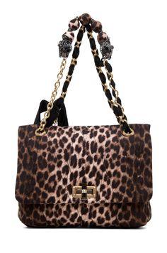 6a7da75ec561 LANVIN 10 Year Anniversary Happy Handbag in Leopard Animal Print Fashion