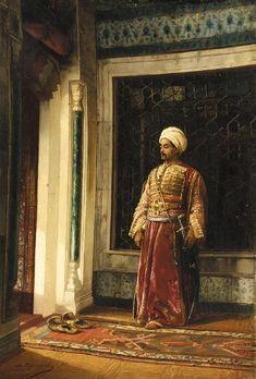 Stanisław Chlebowski (Polish, 1835-1884). The Turkish guard, 1880