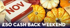 £50 Cash Back Weekend at Harry Casino