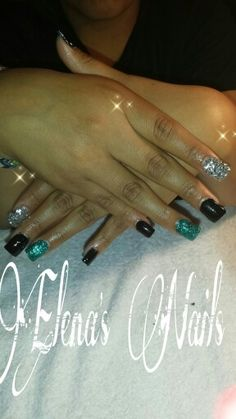 Turquoise black and silver