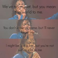 Michael, you are more than just an idol to me <3
