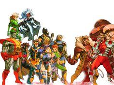 :[ X-Men MX ]:.: n_n manga x-men para marvel vs capcom 2 Hq Marvel, Marvel Heroes, Marvel Characters, Image Comics, Comic Books Art, Comic Art, Street Fighter Game, X Men, Cartoon Art