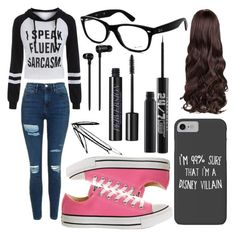 """"""":3"""" by eminemily01 on Polyvore featuring Topshop, Ray-Ban, Disney, Converse, Master & Dynamic and Urban Decay"""