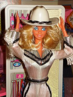 80's Western Barbie I LOVED her! She winked when you pushed a button on her back! I cried like an idiot when I broke her...