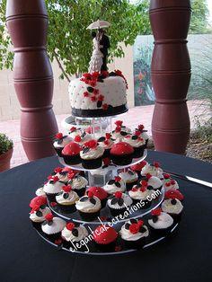 Black And Red Wedding Cupcakes Pinterest Cl Reunion Ideas School Weddings