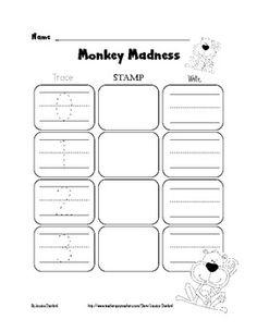 FREEBIE - Monkey Madness - Trace, Stamp, Write (numbers)