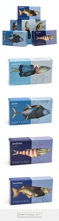 Riscos #CannedFish #packaging designed by NósNaLinha - http://www.packagingoftheworld.com/2015/06/riscos-canned-fish.html