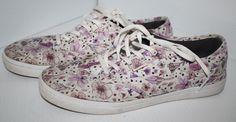 Ladies Vans Off the Wall Canvas Sneakers Floral Print 8.5 Casual Sneakers  | eBay