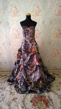 Shown in Mossy Oak NBU brown camo Country Prom, Camo Dress, Prom Dresses, Formal Dresses, Corset, Bodice, One Piece, Bridal, Skirts