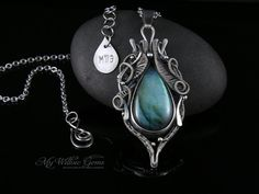 STARSEED  Elven Sterling Silver Labradorite by MyWillowGems