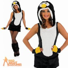 #Adult sexy penguin costume ladies #christmas fancy dress animal bird #outfit 8-2, View more on the LINK: http://www.zeppy.io/product/gb/2/151468038260/