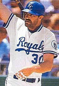 Kirk Gibson - LF, RF - played 132 games in My absolute least favorite Royal ever. When he was a Tiger, he was a jerk to me at the annual Royals award dinner. Royals Baseball, Kansas City Royals, Kirk Gibson, American League, World Championship, Dodgers, Athlete, Legends