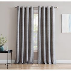 Grey Curtains, Grommet Curtains, Hanging Curtains, Panel Curtains, Jacquard Loom, Floral Room, Curtain Texture, Cream Walls, Decor Pillows